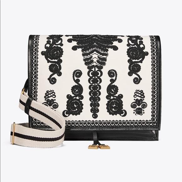 03349c9063af Tory Burch Farrah Embroidered Shoulder Bag